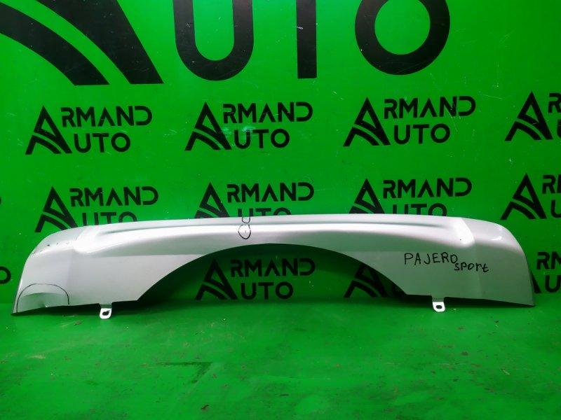 Накладка бампера Mitsubishi Pajero Sport 3 2015 задняя (б/у)