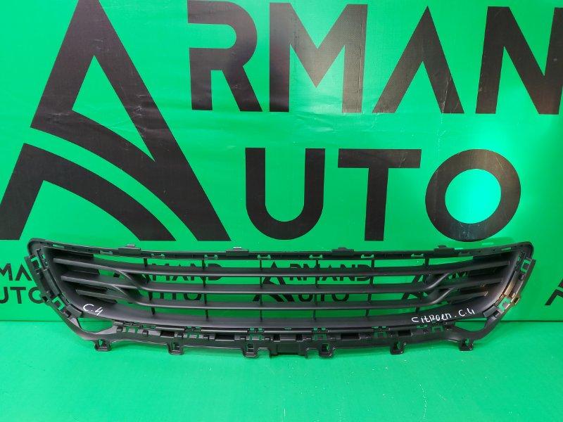 Решетка бампера Citroen C4 2 2010 передняя (б/у)