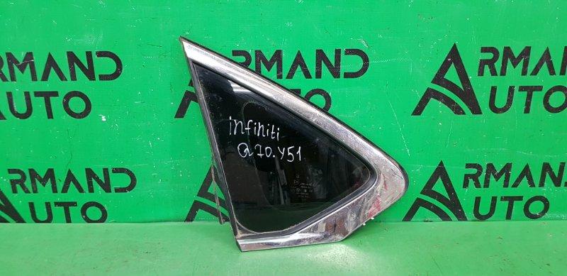 Форточка двери Infiniti Q70 1 2013 задняя левая (б/у)