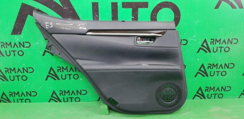 Обшивка двери Lexus Es 6 2012 задняя левая (б/у)