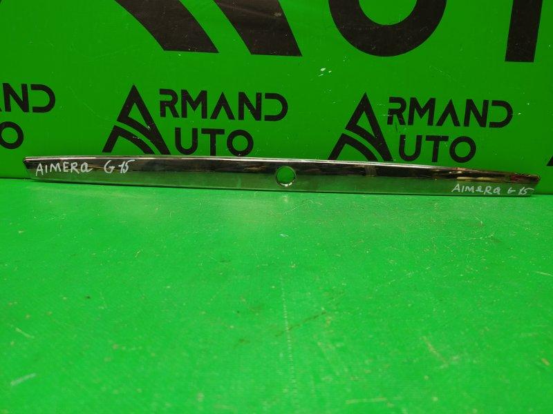 Накладка крышки багажника Nissan Almera G15 2013 (б/у)