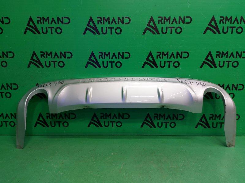 Юбка бампера Volvo V40 Cross Country 1 2012 задняя (б/у)