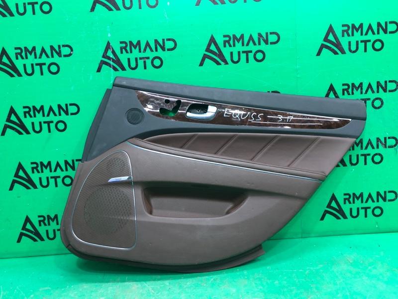 Обшивка двери Hyundai Equus 2 2009 задняя правая (б/у)