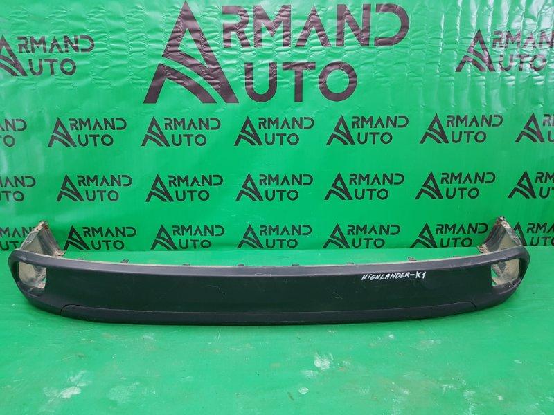 Юбка бампера Toyota Highlander 3 2013 задняя (б/у)