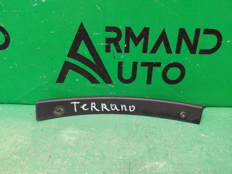 Накладка бампера Nissan Terrano 3 2014 задняя левая (б/у)