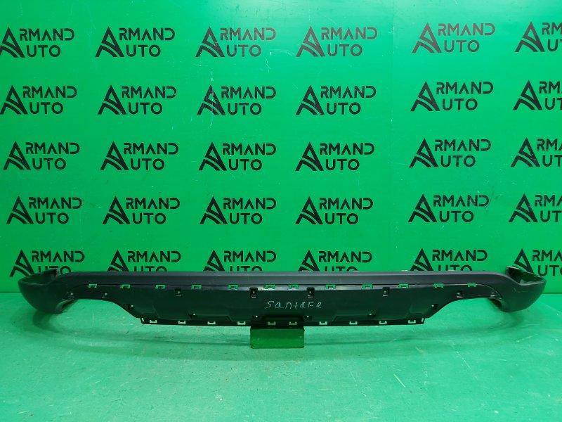 Юбка бампера Hyundai Santa Fe 2 2010 задняя (б/у)