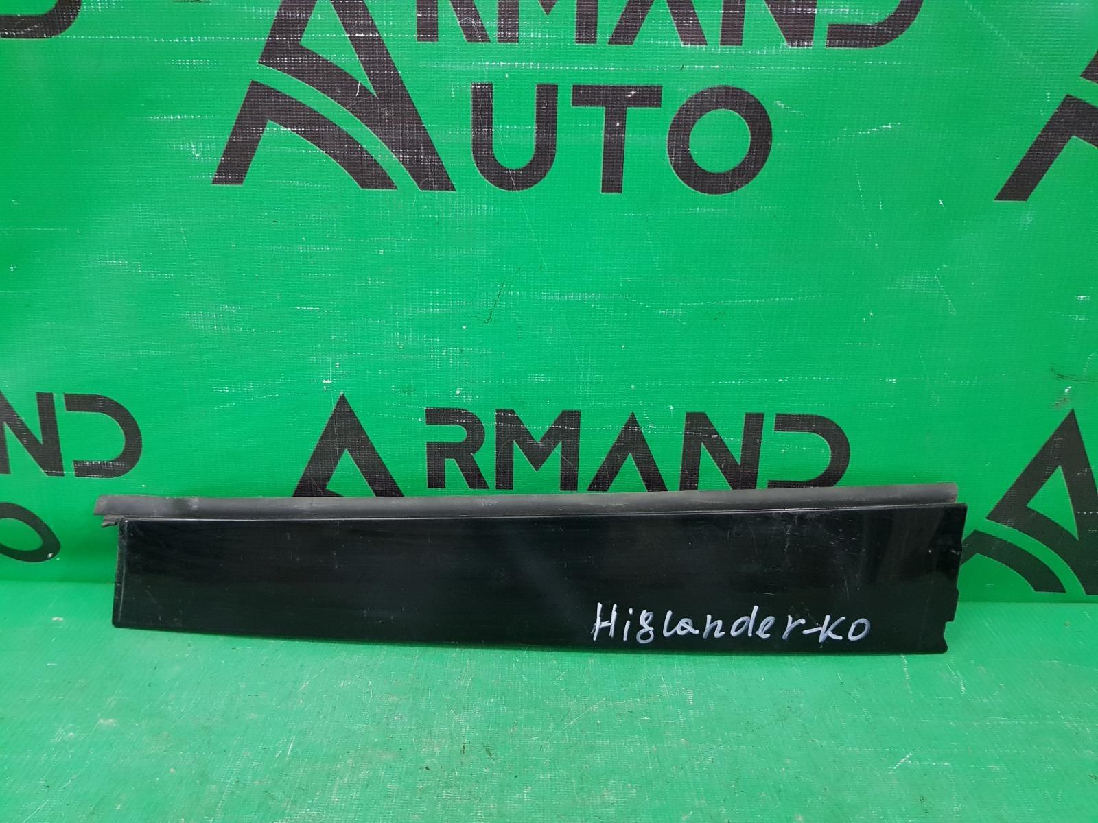 Накладка стойки двери Toyota Highlander 3 2013 задняя правая (б/у)