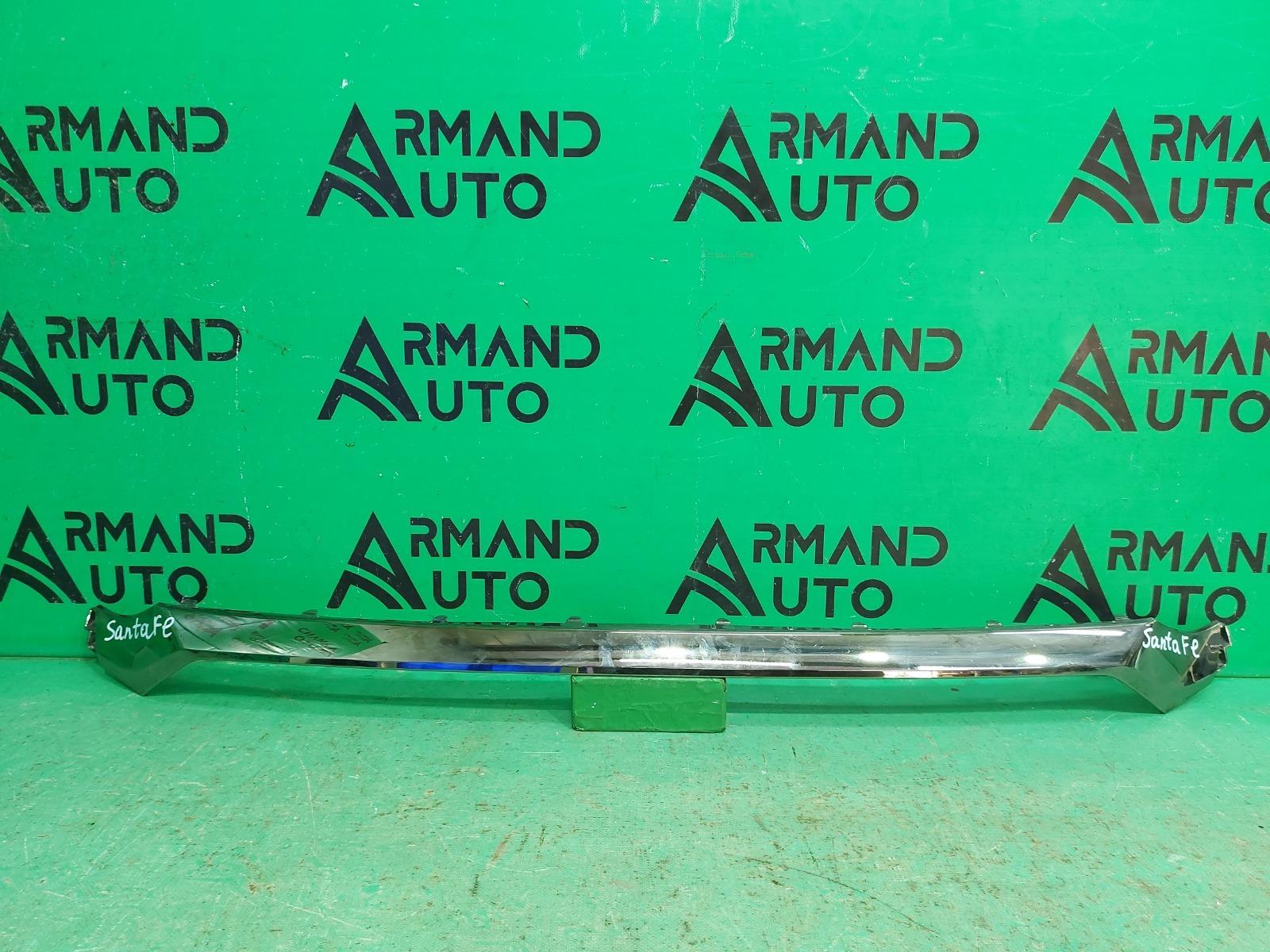Накладка решетки радиатора Hyundai Santa Fe 4 2018 передняя (б/у)