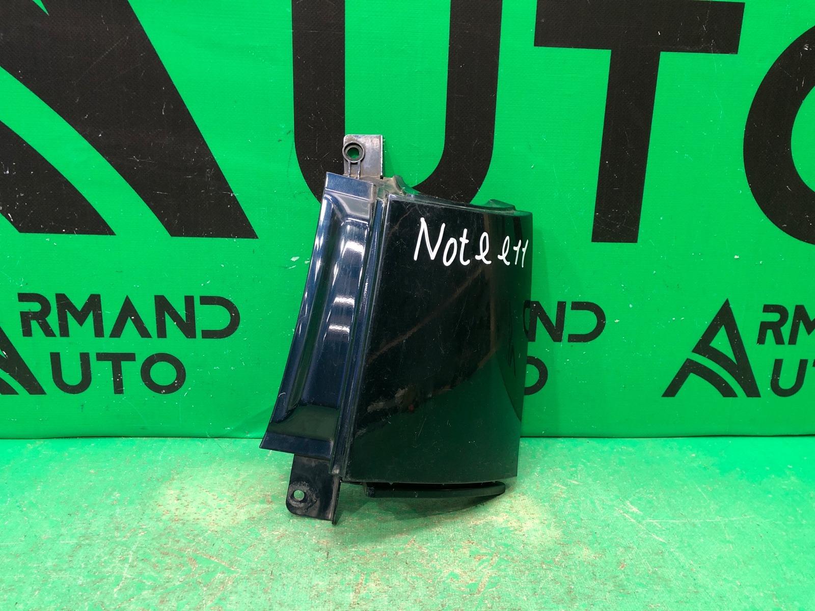 Накладка бампера Nissan Note E11 2005 задняя правая (б/у)