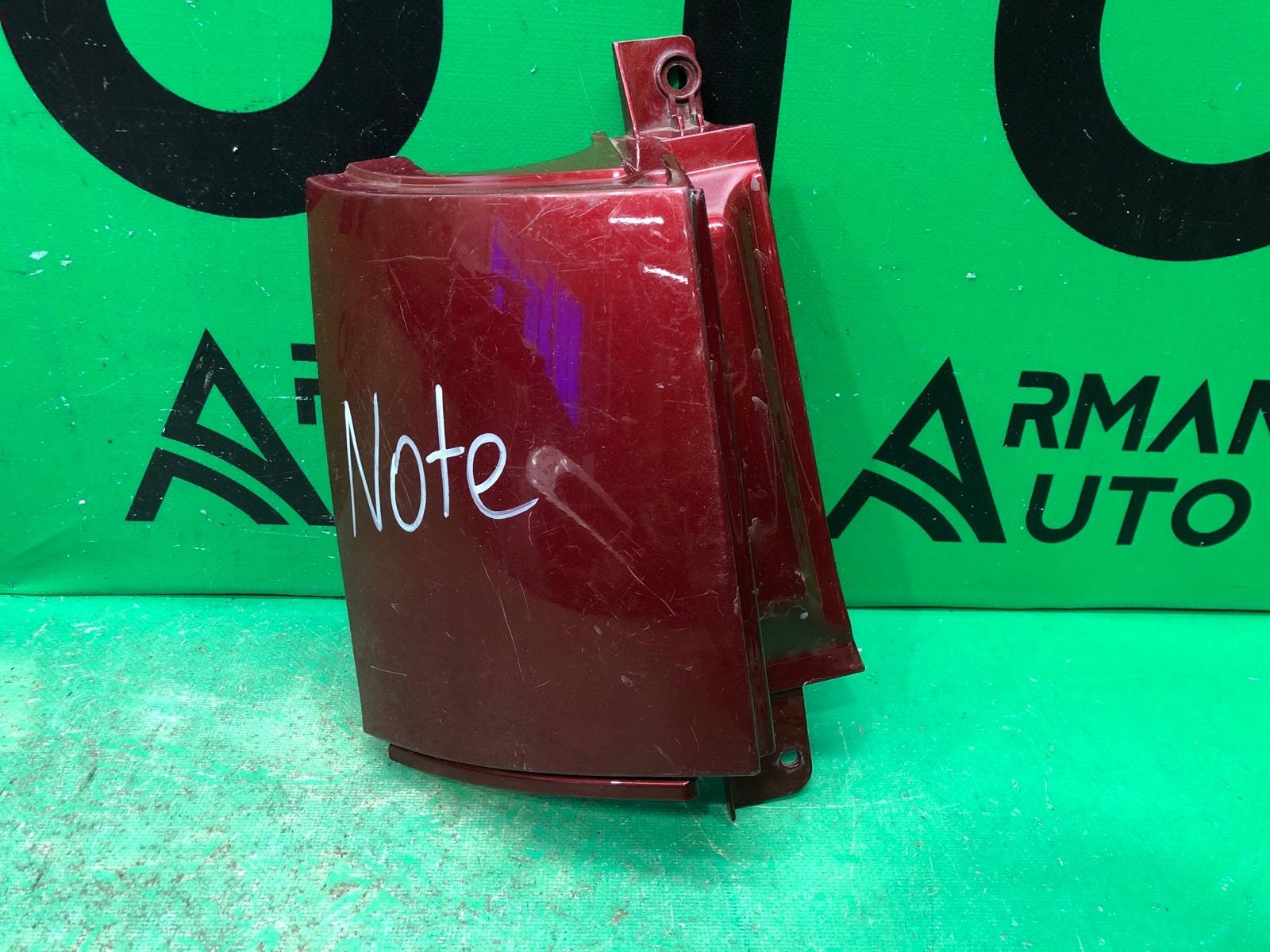 Накладка бампера Nissan Note E11 2005 задняя левая (б/у)