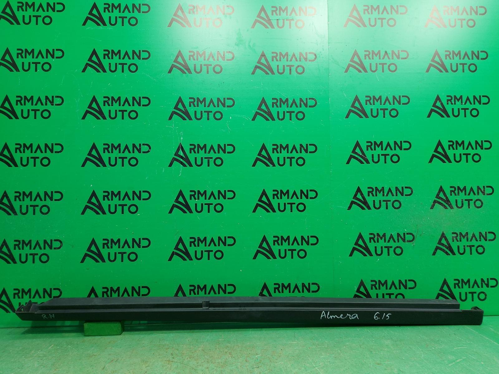 Накладка порога Nissan Almera G15 2013 правая (б/у)