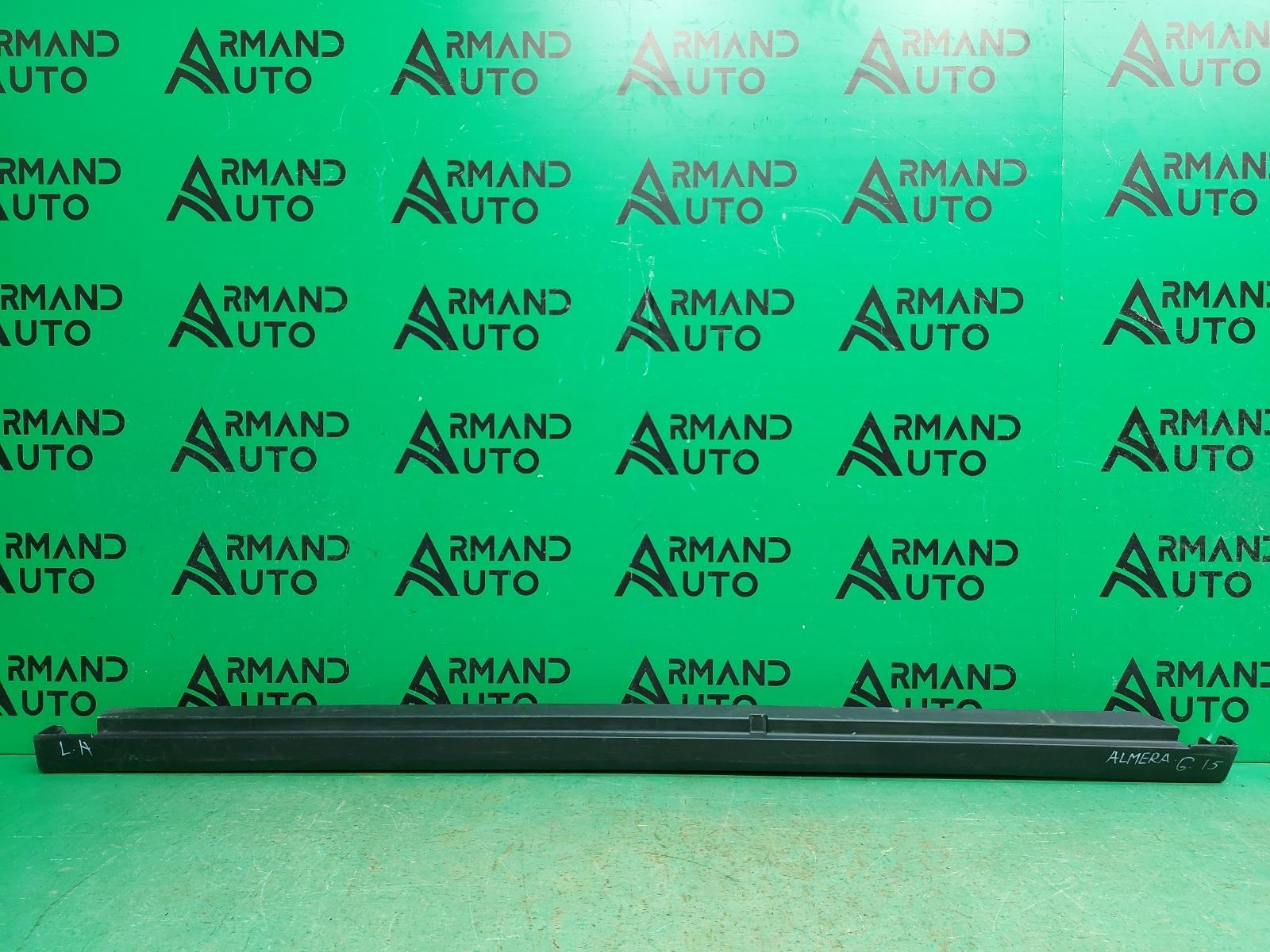 Накладка порога Nissan Almera G15 2013 левая (б/у)
