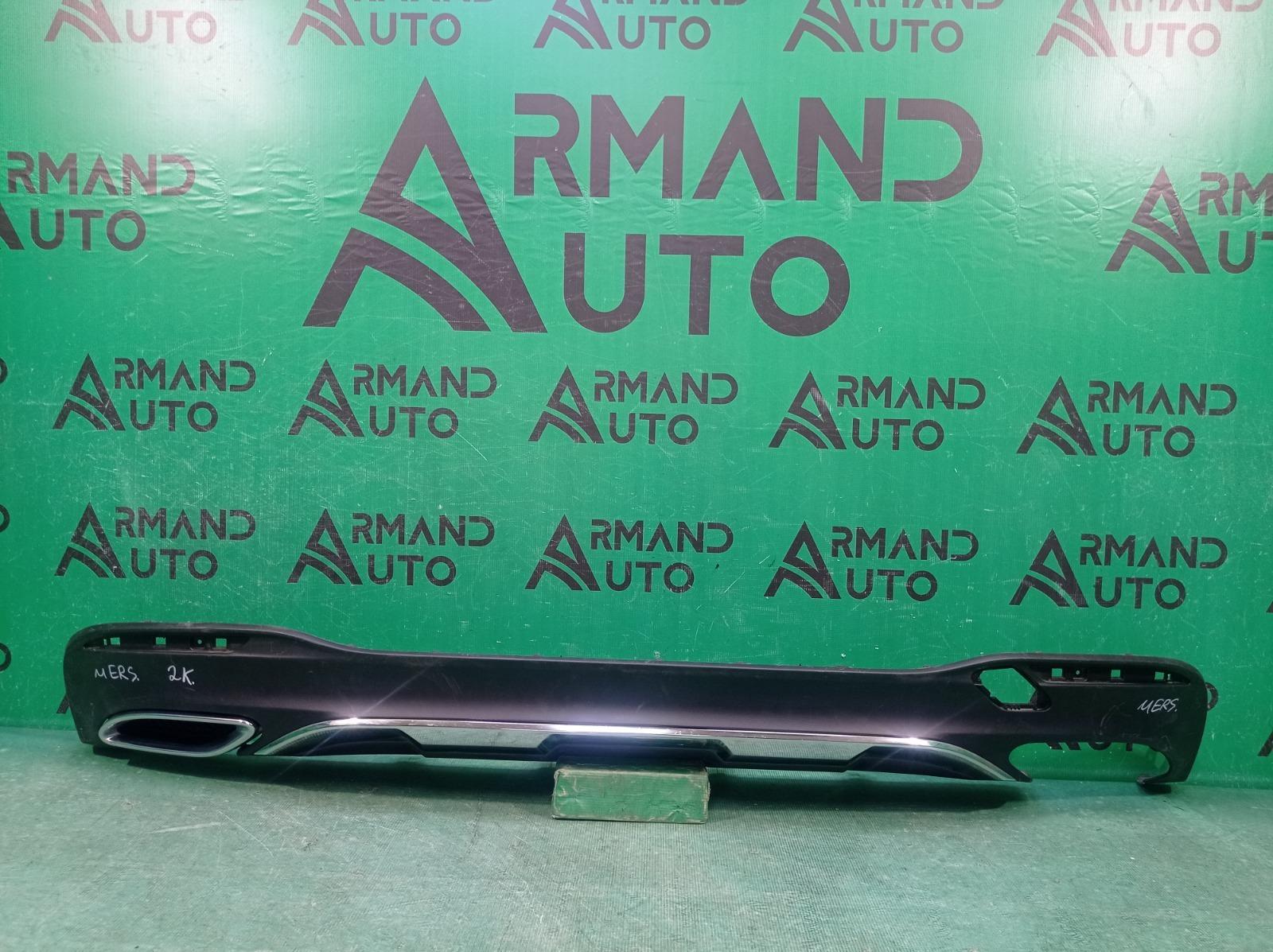 Юбка бампера Mercedes M Ml Gle-Class W166 2015 задняя (б/у)