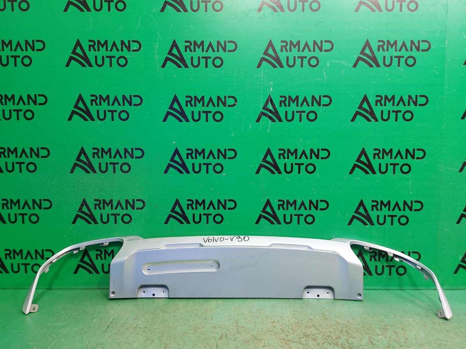 Накладка бампера Volvo V90 Cross Country 1 2016 задняя (б/у)