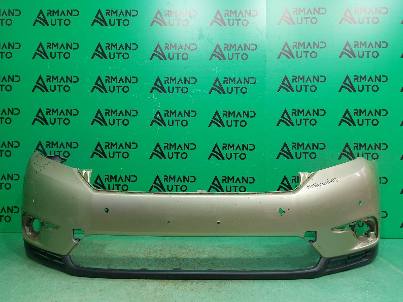 Бампер Toyota Highlander 2 РЕСТАЙЛИНГ 2010 передний (б/у)