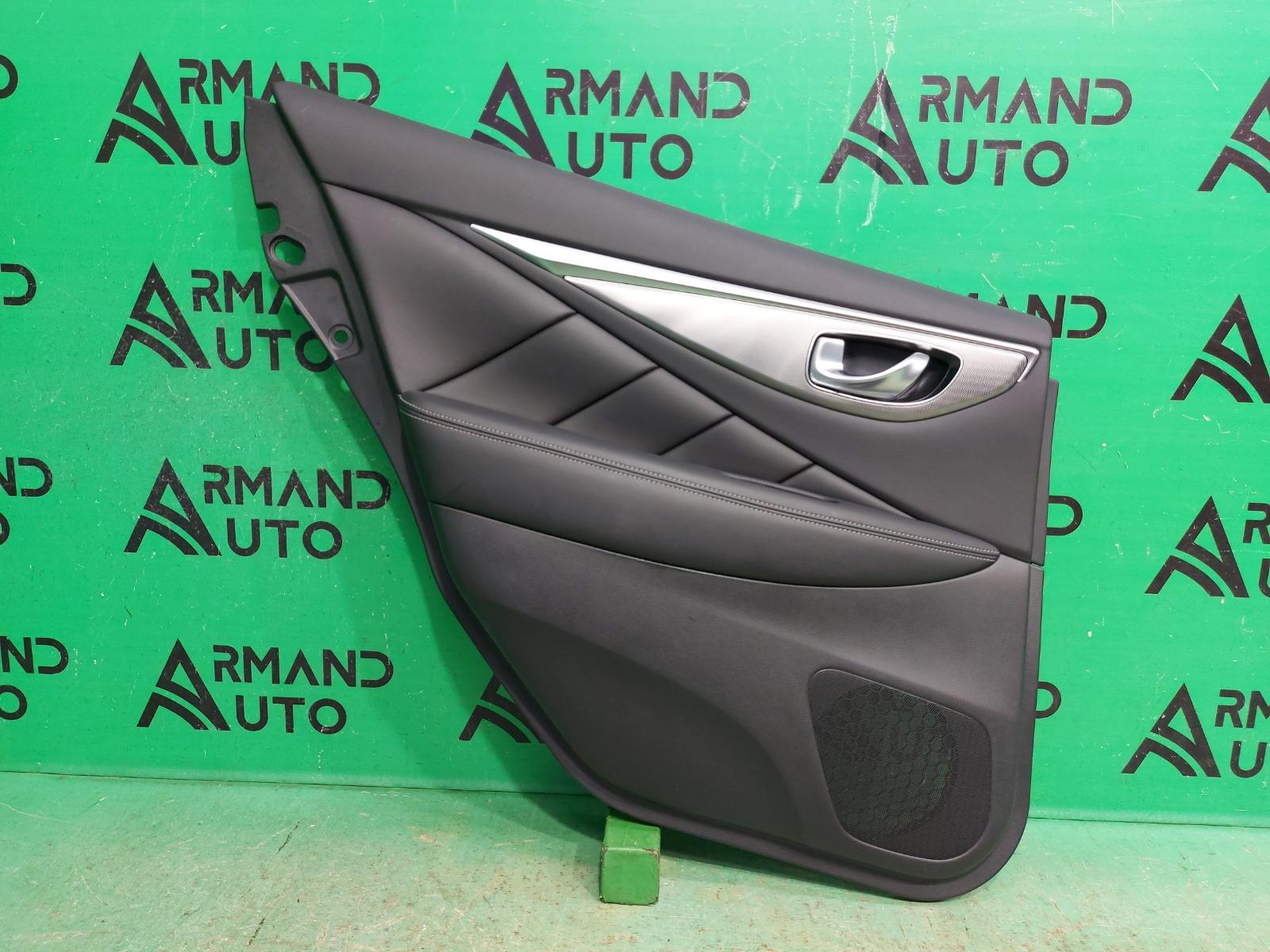 Обшивка двери Infiniti Q50 2013 задняя левая (б/у)
