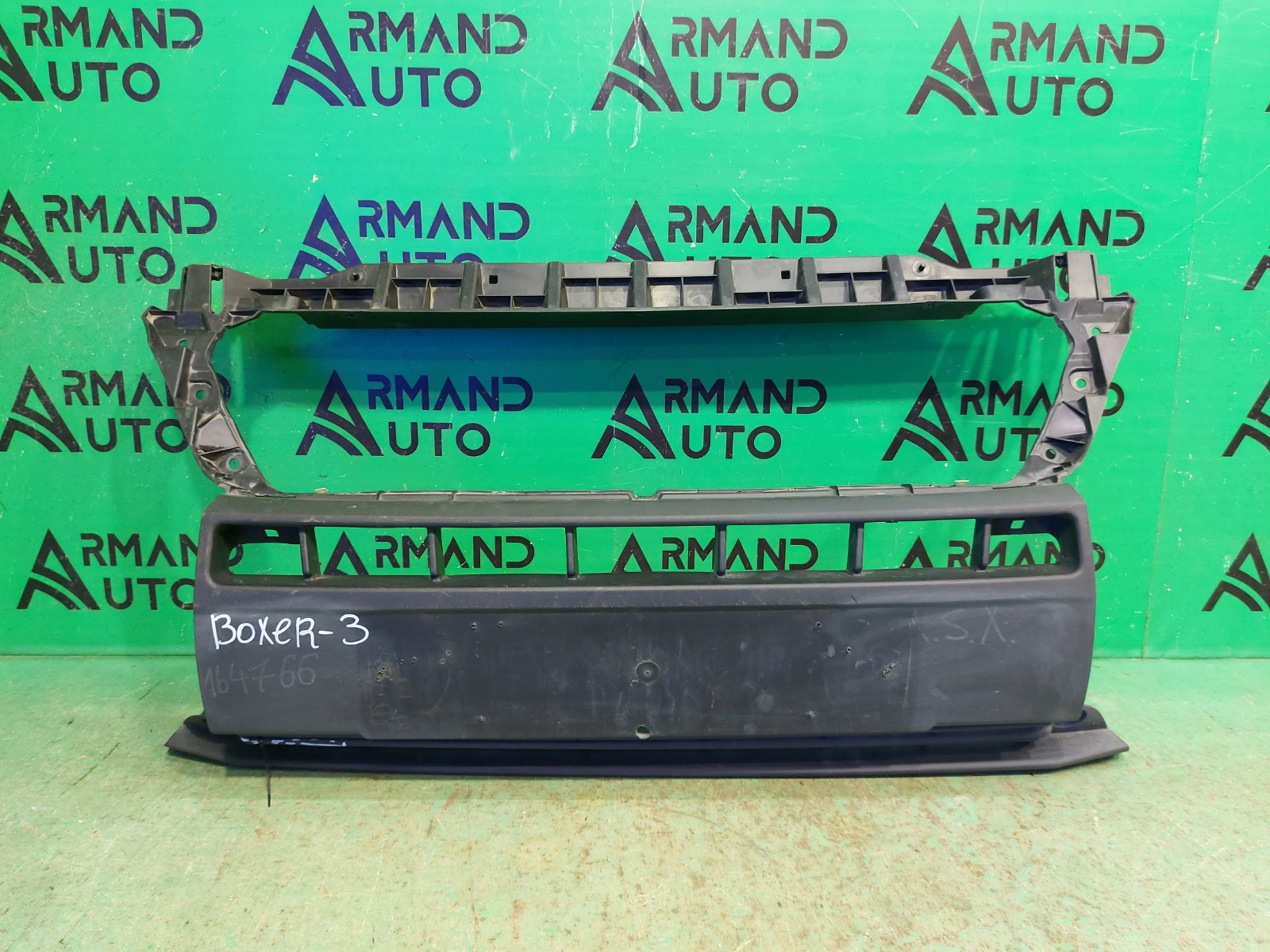 Решетка бампера Peugeot Boxer 3 РЕСТАЙЛИНГ 2014 передняя (б/у)
