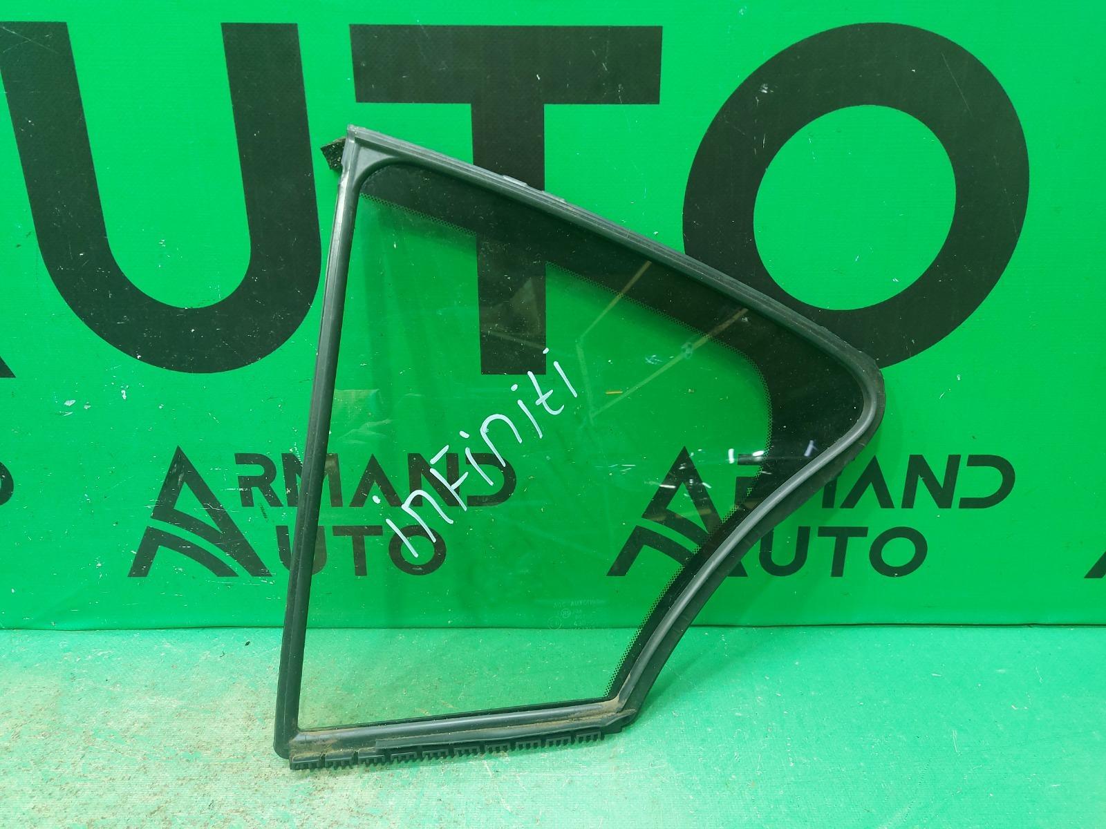 Стекло двери Infiniti Q50 V37 2013 заднее левое (б/у)