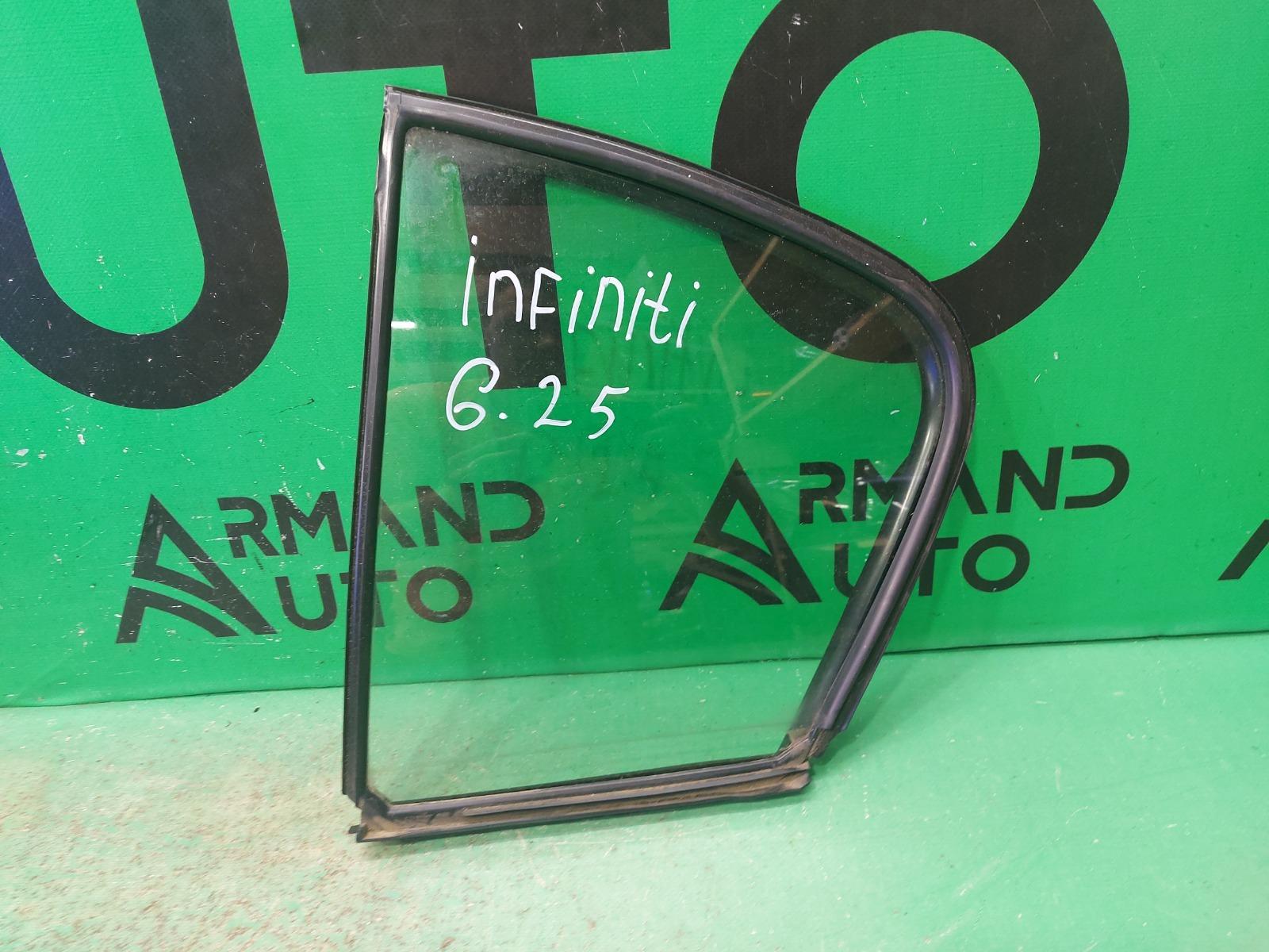 Стекло двери Infiniti G V36 2006 заднее левое (б/у)
