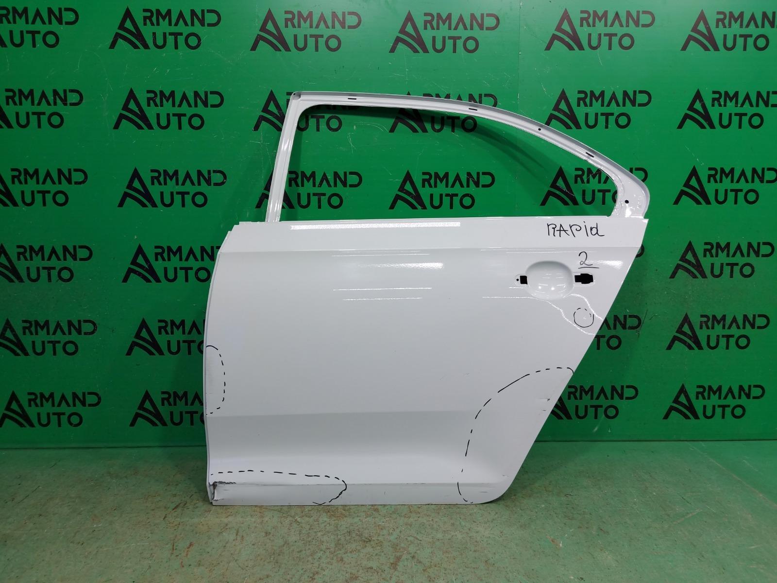 Дверь Skoda Rapid 1 2012 задняя левая (б/у)