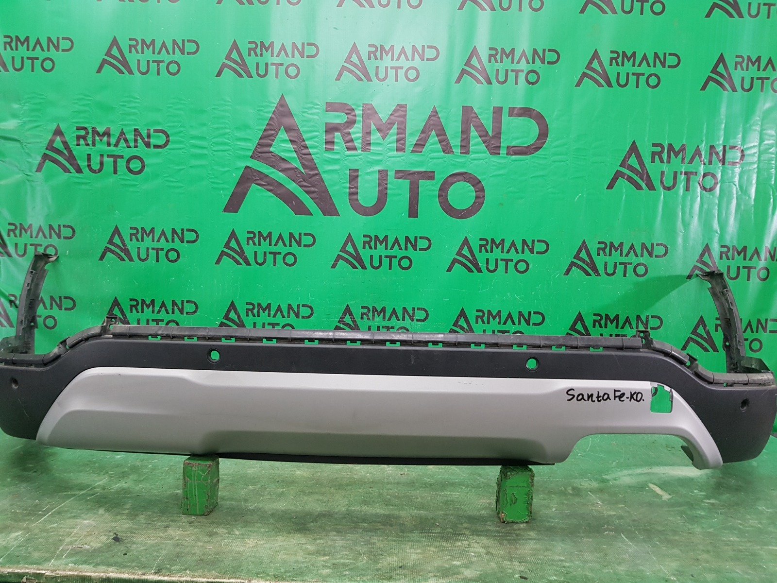 Юбка бампера Hyundai Santa Fe 3 РЕСТАЙЛИНГ 2015 задняя (б/у)