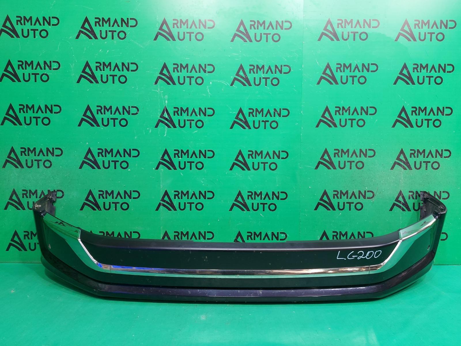 Юбка бампера Toyota Land Cruiser 200 РЕСТАЙЛИНГ 2 2015 передняя (б/у)
