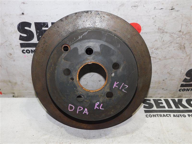 Диск тормозной Toyota Opa ZCT10 задний левый (б/у)