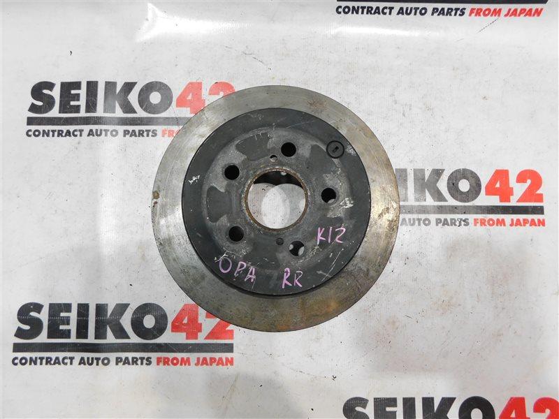Диск тормозной Toyota Opa ZCT10 задний правый (б/у)