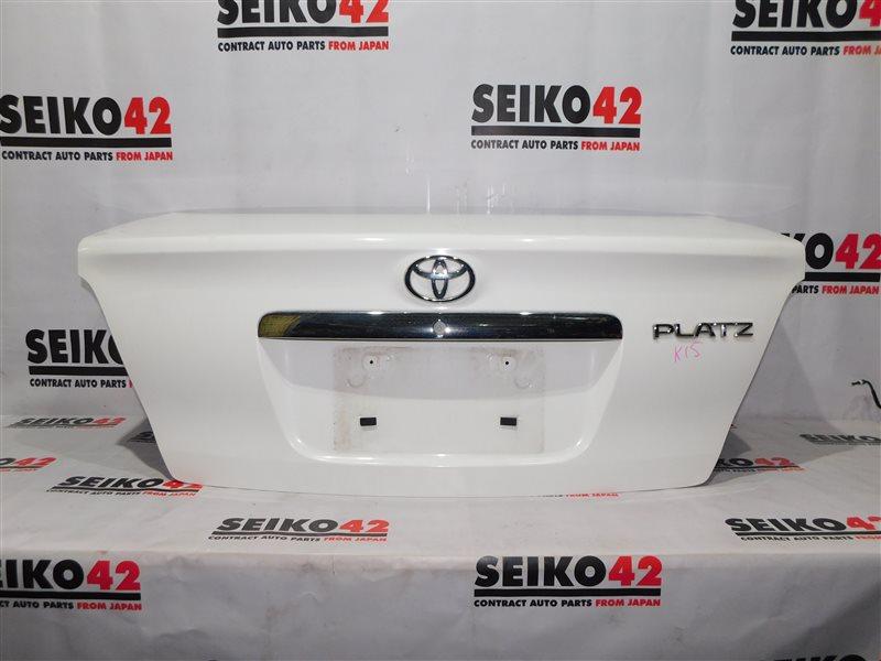 Крышка багажника Toyota Platz NCP12 2 модель задняя (б/у)