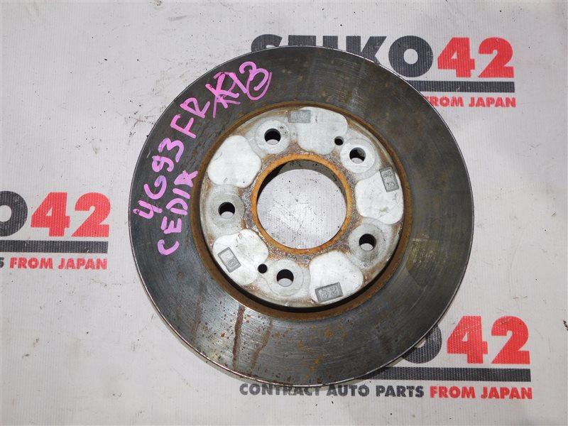 Диск тормозной Mitsubishi Lancer Cedia CS5W передний правый (б/у)