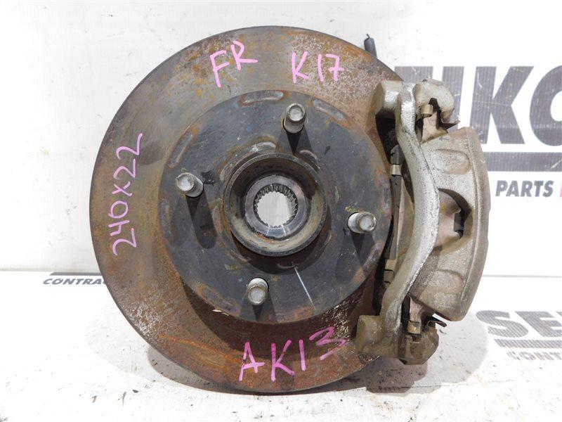 Диск тормозной Nissan March K13 HR12DE передний правый (б/у)