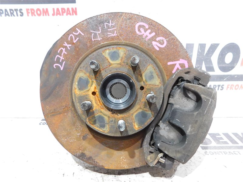 Диск тормозной Subaru Impreza Wagon GH7 EJ203 передний левый (б/у)