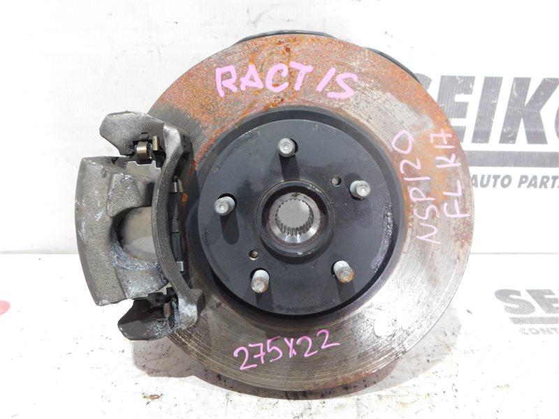 Диск тормозной Toyota Ractis NSP120 1NR-FE передний левый (б/у)