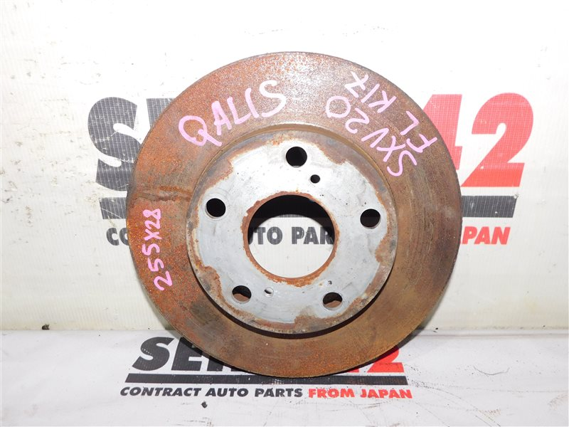 Диск тормозной Toyota Mark Ii Wagon Qualis SXV20 5S-FE передний левый (б/у)