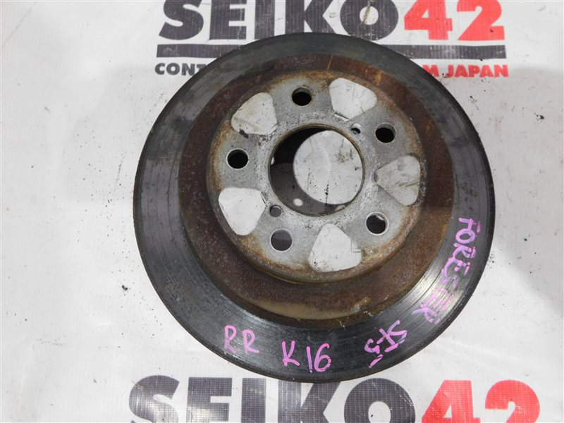 Диск тормозной Subaru Forester SF5 задний правый (б/у)