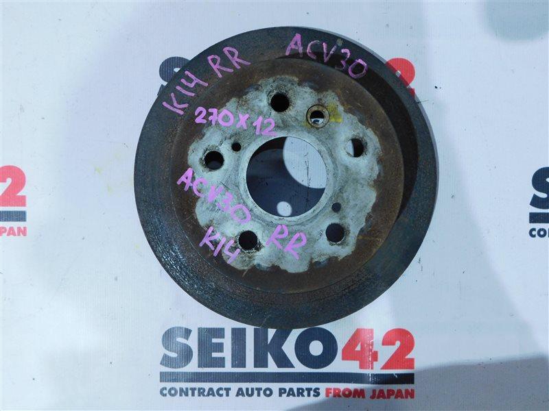 Диск тормозной Toyota Camry ACV30 задний правый (б/у)