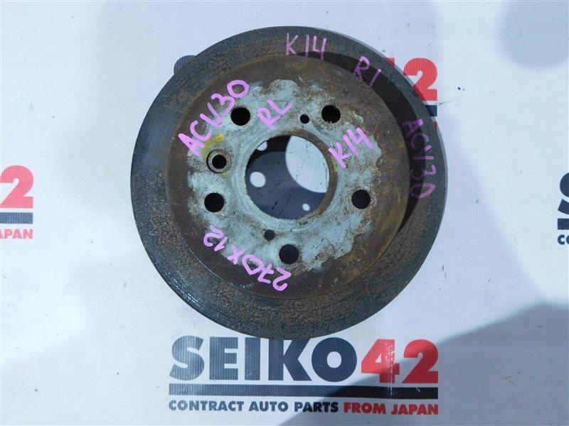 Диск тормозной Toyota Camry ACV30 задний левый (б/у)