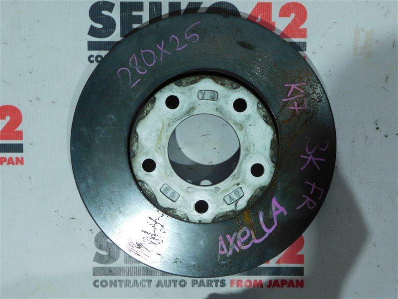 Диск тормозной Mazda Axela BK5P ZY-VE передний правый (б/у)