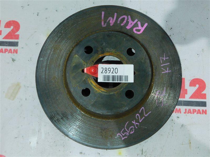 Диск тормозной Toyota Raum NCZ20 передний правый (б/у)
