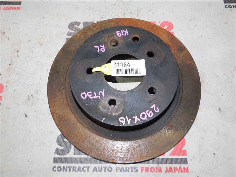Диск тормозной Nissan X-Trail NT30 задний (б/у)