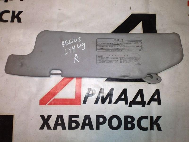 Козырек солнцезащитный Toyota Regius LXH49 правый (б/у)