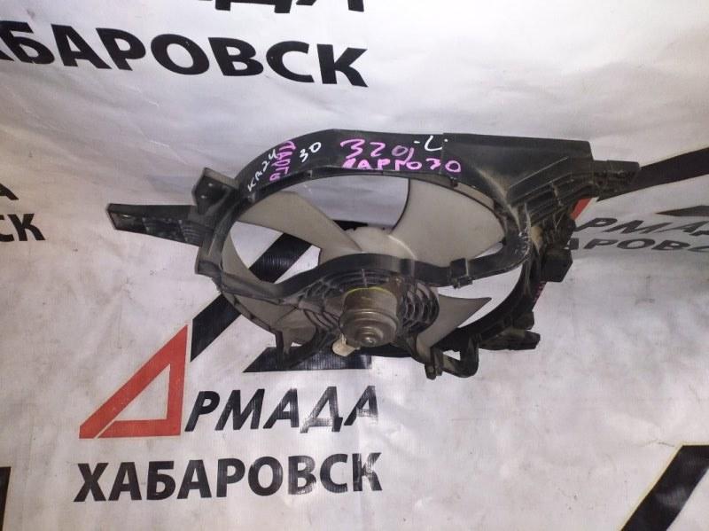 Вентилятор радиатора Nissan Largo NW30 KA24 левый (б/у)