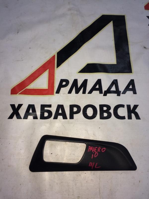 Накладка на ручки дверей Mitsubishi Pajero Io H76 передняя левая (б/у)