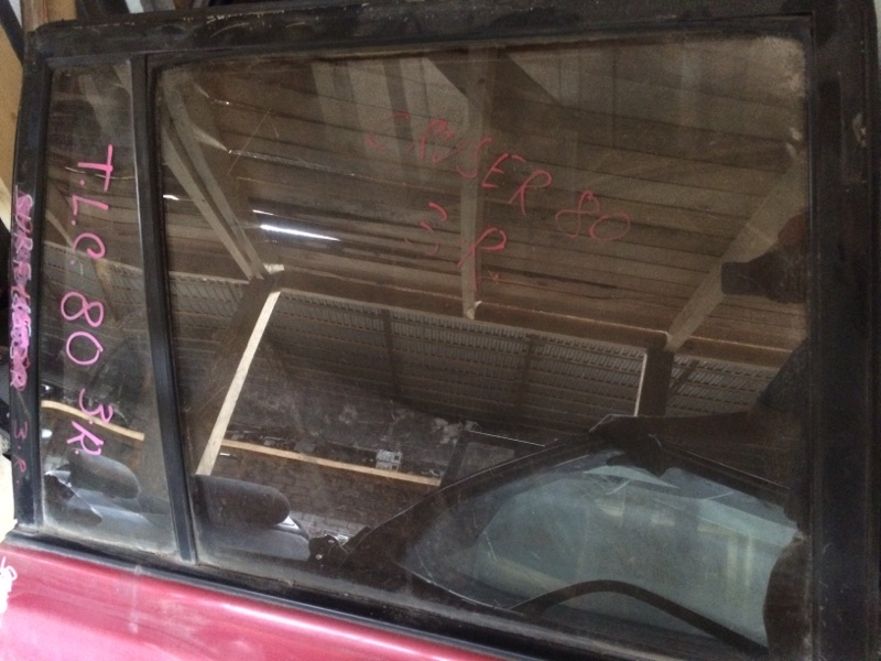 Стекло двери Toyota Land Cruiser HDJ81 заднее правое (б/у)