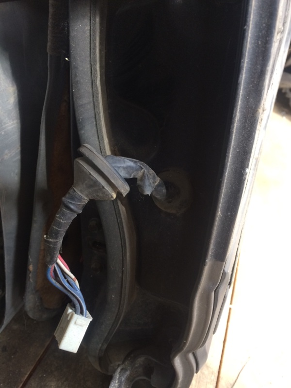Проводка двери Toyota Land Cruiser HDJ81 задняя левая (б/у)