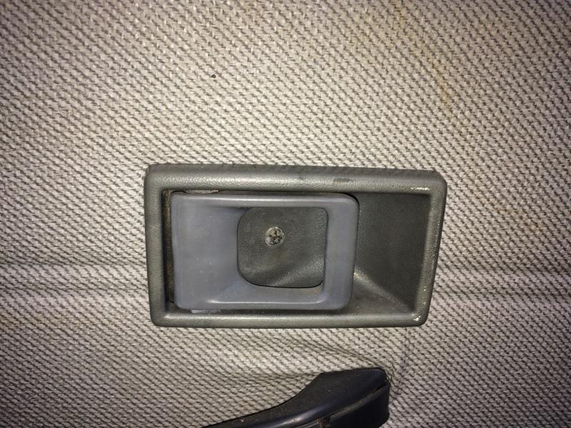 Ручка двери внутренняя Mitsubishi Canter FE337 задняя левая (б/у)