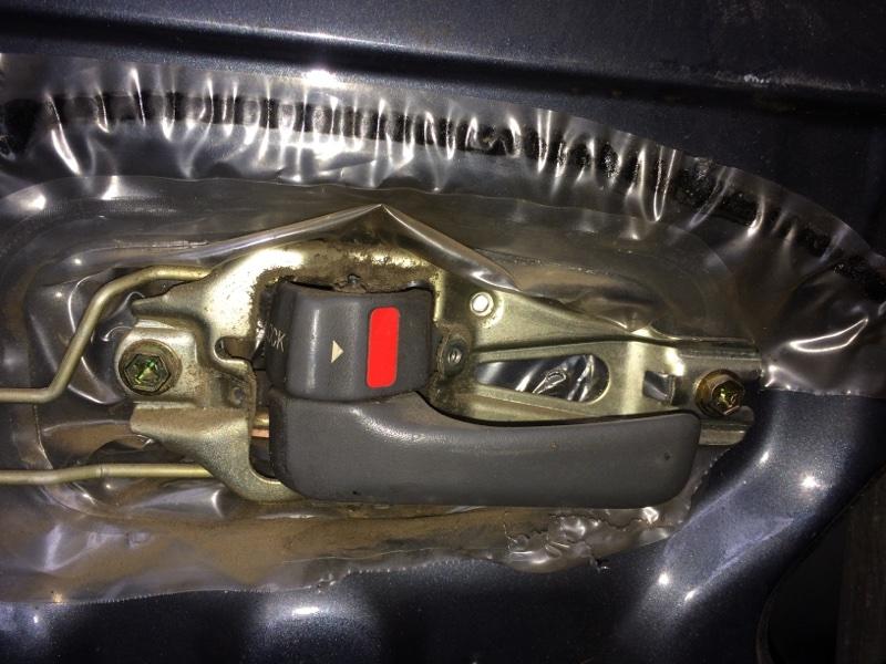 Ручка двери внутренняя Toyota Land Cruiser HDJ80 передняя левая (б/у)