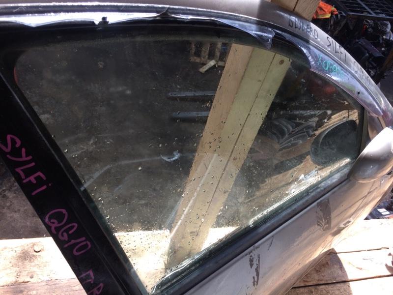 Стекло двери Nissan Bluebird Sylphy QG10 переднее правое (б/у)