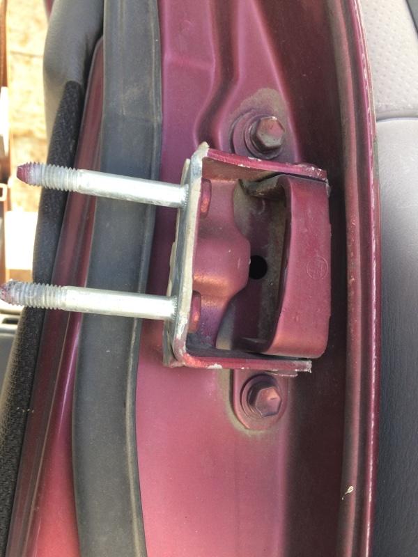 Петли на дверь Toyota Hilux Surf KZN130 задние левые верхние (б/у)