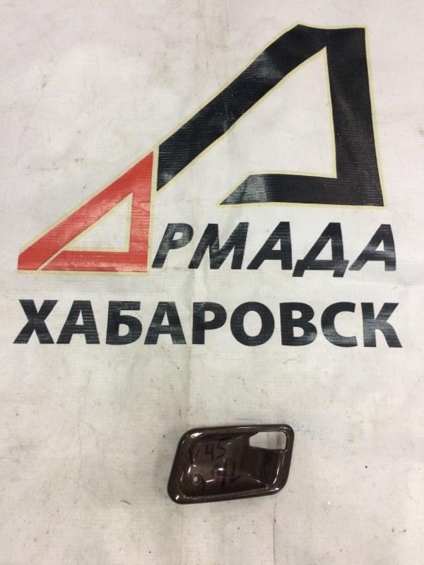 Накладка на ручки дверей Mitsubishi Pajero V25W передняя левая (б/у)